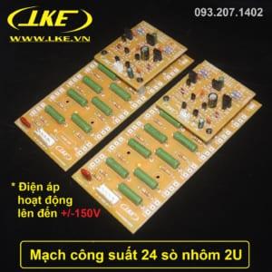 mạch công suất 24 sò nhôm 2U LKE công suất 550W