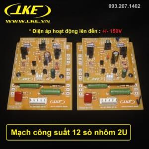 mạch công suất 12 sò nhôm 2U công suất 350W