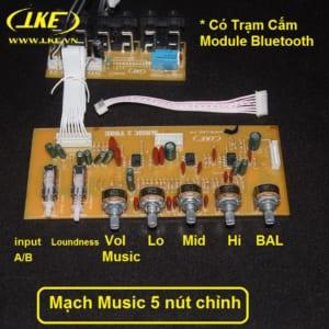 mạch music 3 tone 5 nút chỉnh LKE