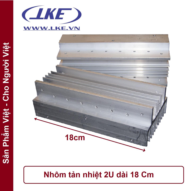 nhôm tản nhiệt 2U ampli dài 18cm LKE