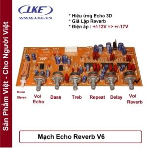 mạch echo reverb V6 lke
