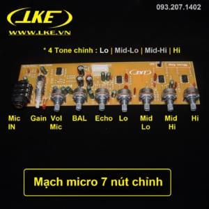 mạch micro 7 nút chỉnh lke