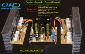 mạch công suất, mạch nguồn ampli,tụ nguồn,sò công suất, nhôm tản nhiệt