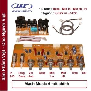 mạch music 4 tone 5 nút chỉnh LKE