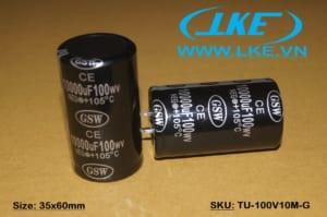 Tụ nguồn chính hãng GSW hàng china chất lượng cao - 100V 10.000uF