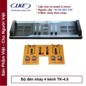 Mặt nhôm ampli 4 kênh tk4.5 LKE