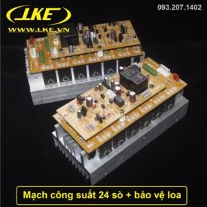 mạch công suất 24 sò nhôm 2U LKE công suất 550W tích hợp bảo vệ loa