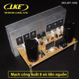 mạch công suất 6 sò liền nguồn LKE 3