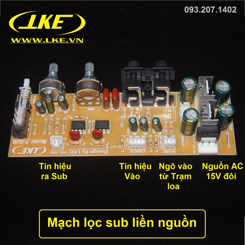 mạch lọc sub liền nguồn LKE 1
