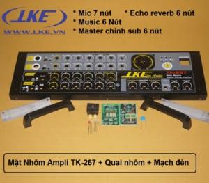 mặt nhôm ampli TK267 LKE