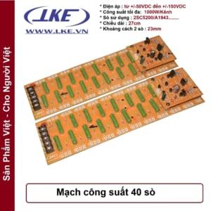 mạch công suất 40 sò 1000w lke