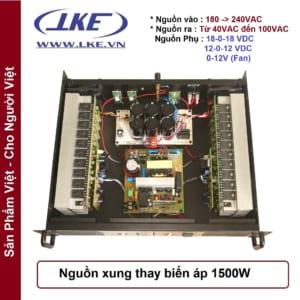 mạchn nguồn xung thay thế biến áp 1500w lke